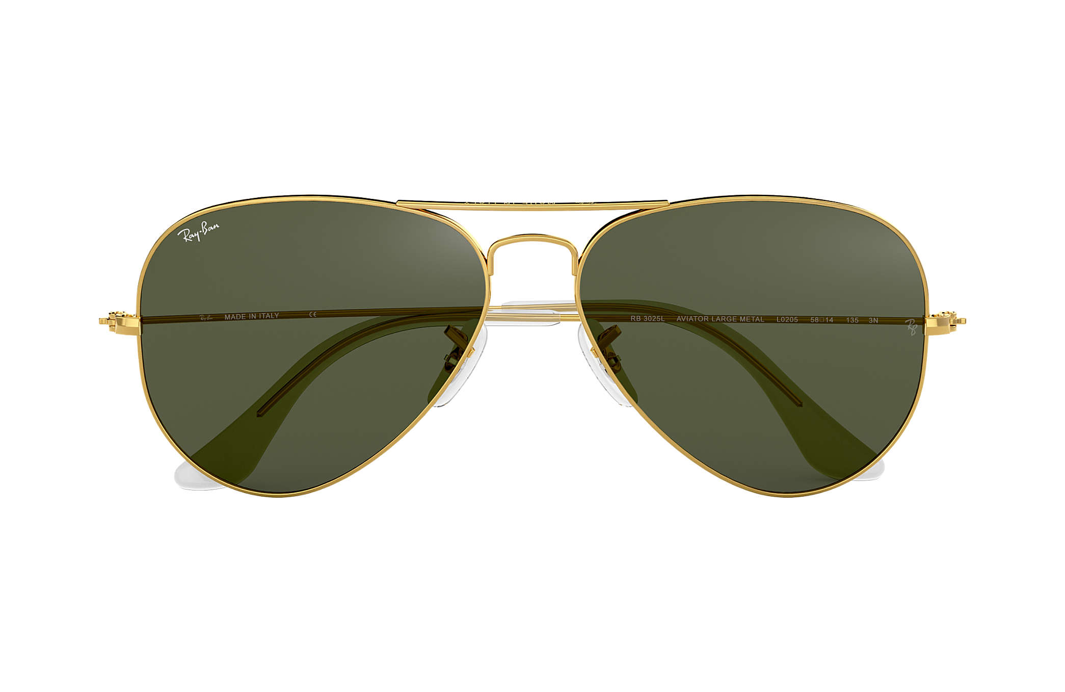 576e82342a9aa Ray-Ban Aviator Clássico RB3025L Ouro - Metal - Lentes Verde ...