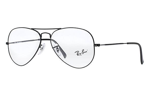 450fe0e8051ed Óculos de grau Ray-Ban Aviator Optics RB6049L Preto - Metal ...