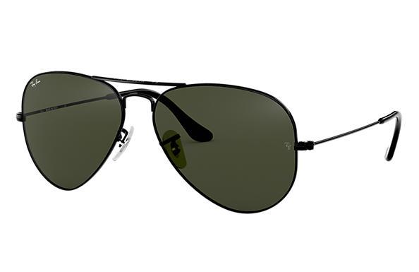 Ray-Ban Aviator Clássico RB3025 Chumbo - Metal - Lentes Verde ... 67a6f30a5b
