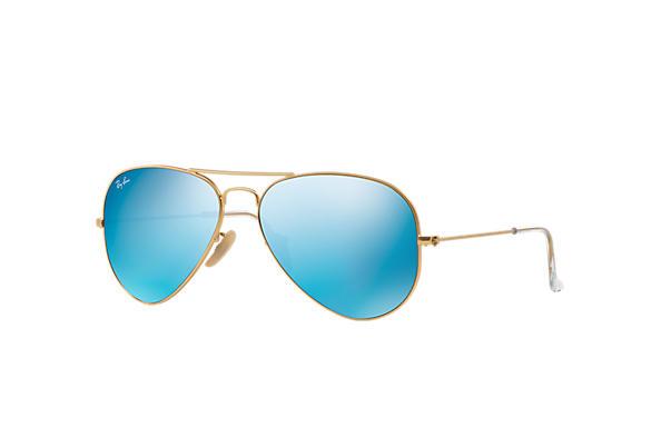 05b95dfeee02f Ray-Ban Aviator Espelhado RB3025L Ouro - Metal - Lentes Azul ...