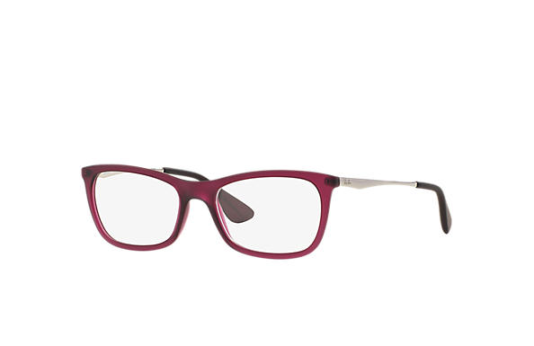 Ray-Ban 0RX7041L-RB7041 Bordeaux; Prata OPTICAL