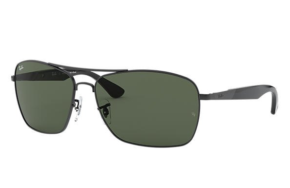305583be9e7ee Ray-Ban Rb3531 RB3531L Preto - Metal - Lentes Verde 0RB3531L006 7164 ...