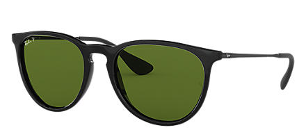 f07e760b0c41f Ray-Ban ERIKA CLÁSSICO Preto com Verde Clássica G-15 lentes