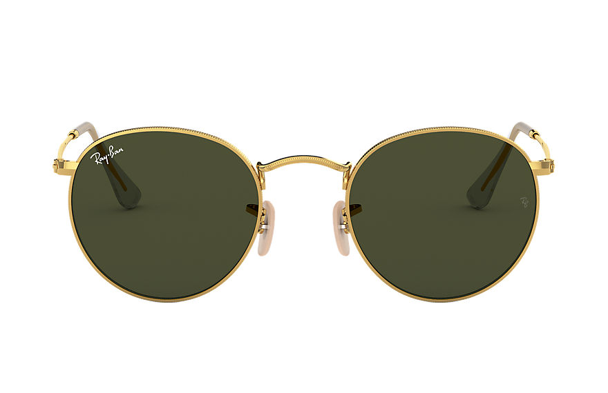 Ray-Ban  oculos de sol RB3447L UNISEX 001 round metal ouro 7895653143616