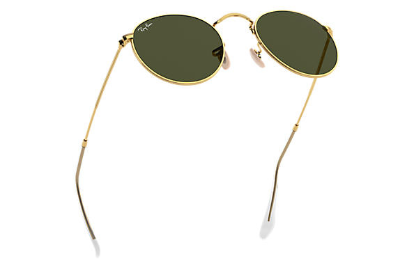ray ban round metal verde classica g15