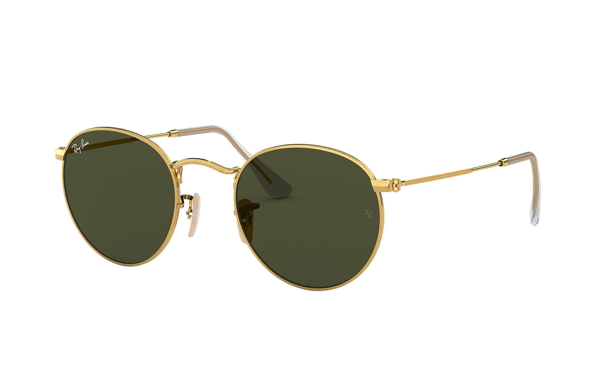 304368ab4a Ray-Ban Round Metal RB3447L Ouro - Metal - Lentes Verde ...