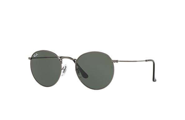 ray ban round metal lentes espelhadas