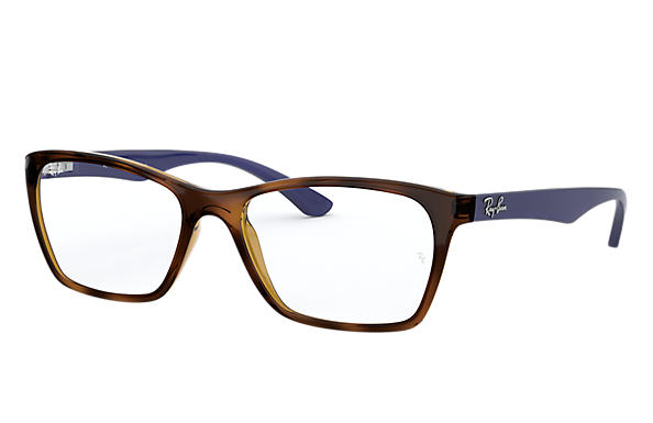 Ray-Ban 0RX7033L-RB7033L Tartaruga; Azul OPTICAL