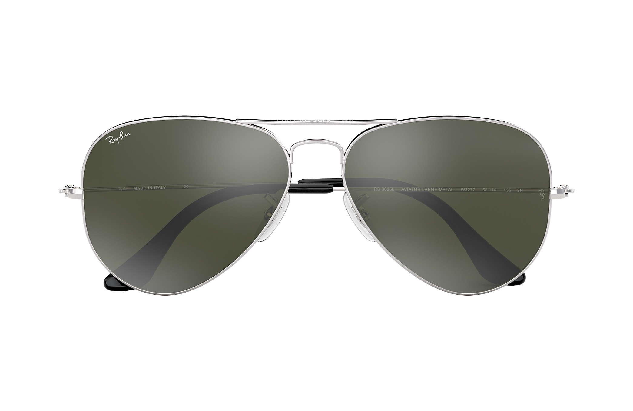 Ray-Ban Aviator Espelhado RB3025L Prata - Metal - Lentes Prata ... 8634236d08