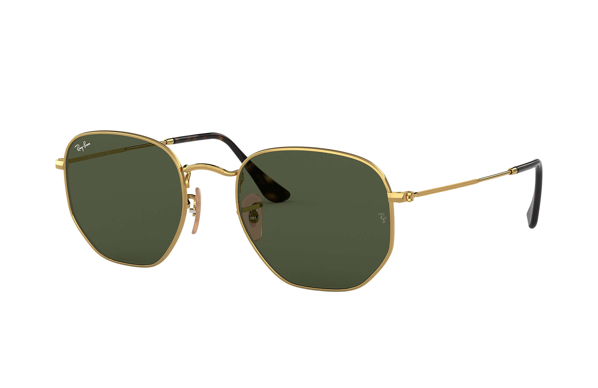 246ccd55dfac3 Ray-Ban Hexagonal Flat Lenses RB3548NL Ouro - Metal - Lentes Verde ...
