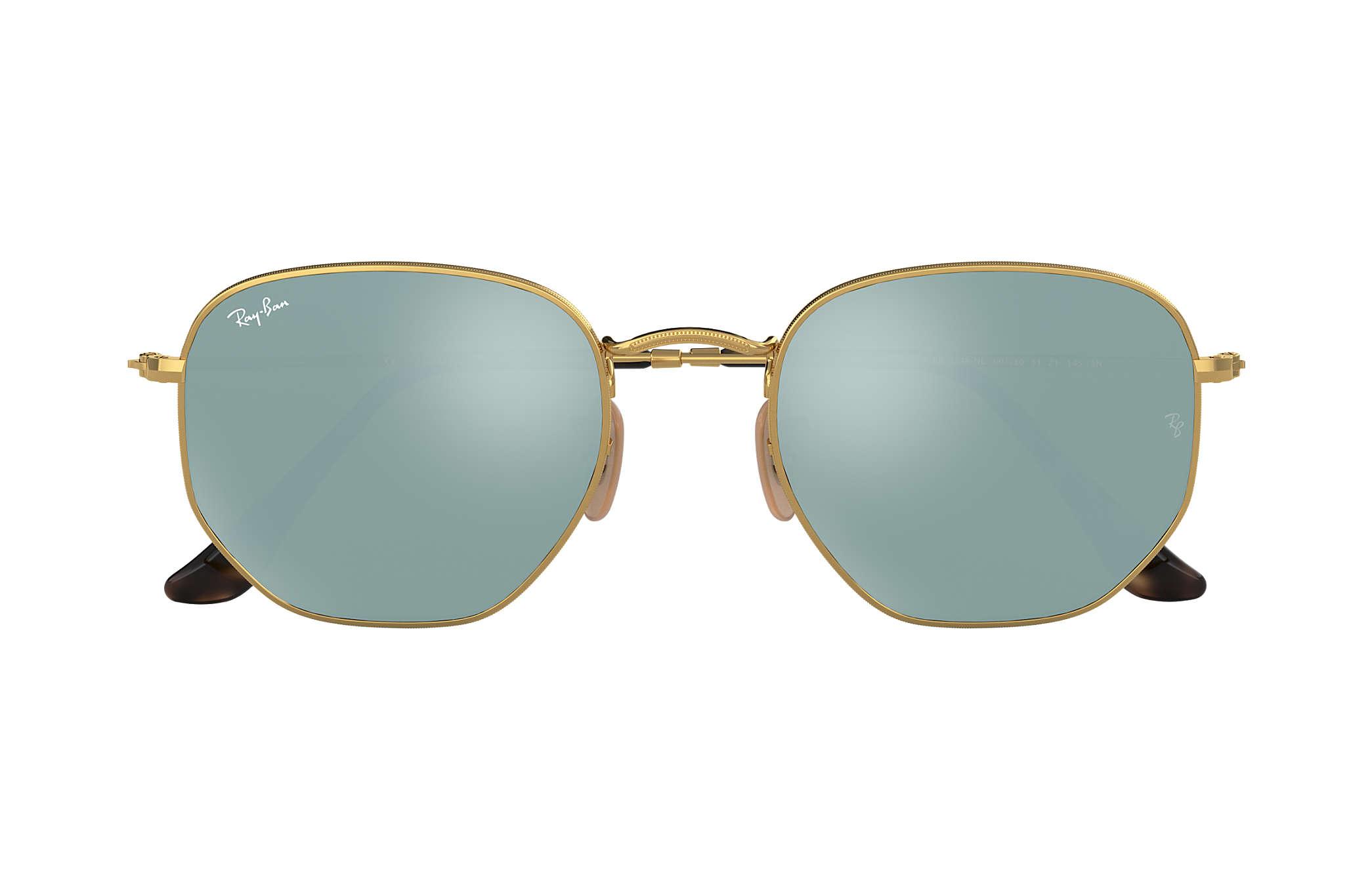 3dc188abe3a7e Ray-Ban Hexagonal Flat Lenses RB3548NL Ouro - Metal - Lentes Prata ...