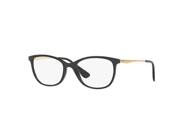 ceb001ed305dd Óculos de grau Ray-Ban RB7106L Preto - Injetado - 0RX7106L569753 ...