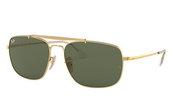 7d416650fa58e Ray-Ban Colonel RB3560L Ouro - Metal - Lentes Verde - 0RB3560L00161 ...