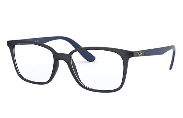 Ray-Ban 0RX7167L-RB7167L Azul,Preto; Azul OPTICAL