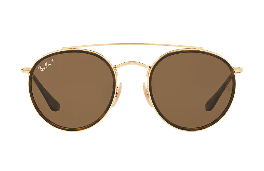 Ray-Ban  oculos de sol RB3647NL UNISEX 002 round double bridge ouro 7895653192324