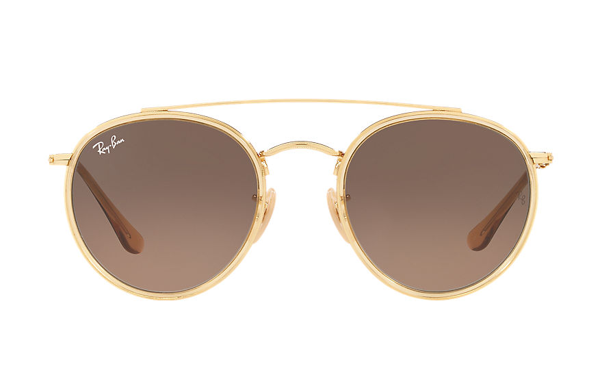 Ray-Ban  oculos de sol RB3647NL UNISEX 003 round double bridge ouro 7895653192348