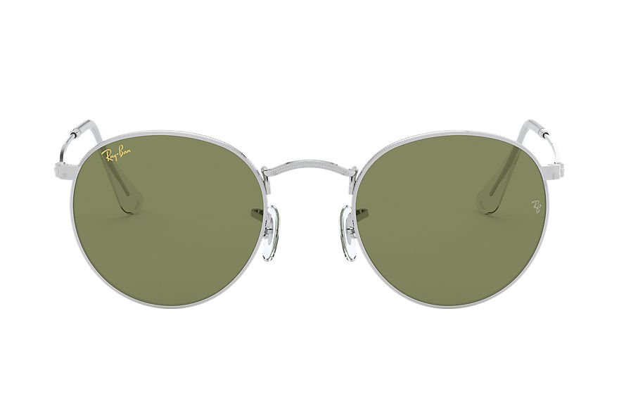 Ray-Ban  oculos de sol RB3447L MALE 007 round metal legend gold prata 7895653195608