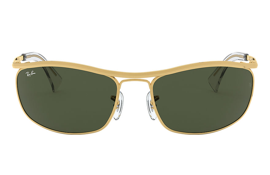 Ray-Ban		 OLYMPIAN Gold met brillenglas Green Classic G-15