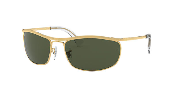 352bec667f Ray-Ban Olympian RB3119 Gold - Metal - Green Lenses - 0RB311900162 ...