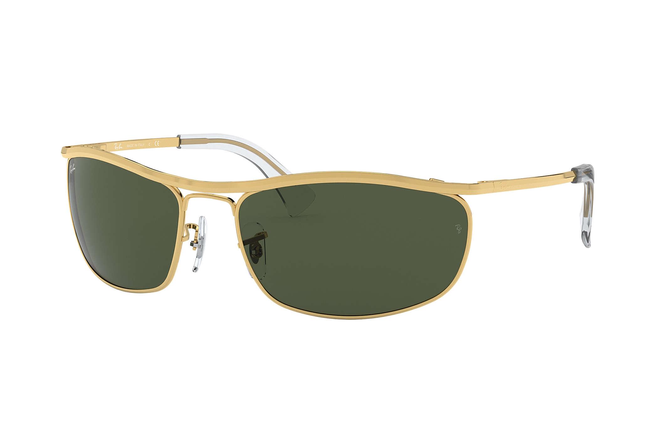 b8297760823 Ray-Ban Caravan RB3136 Gold - Metal - Green Lenses - 0RB313600155 ...