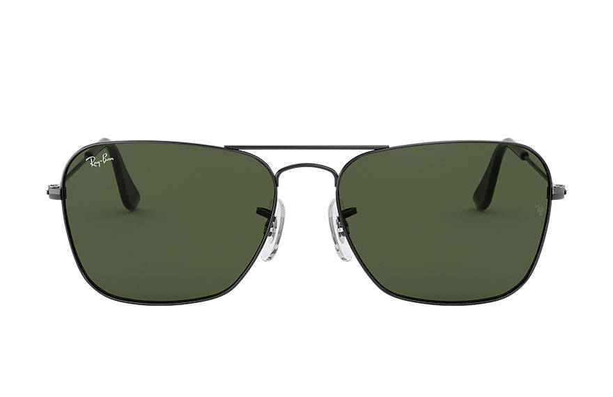 Ray-Ban CARAVAN Gunmetal with Green Classic G-15 lens