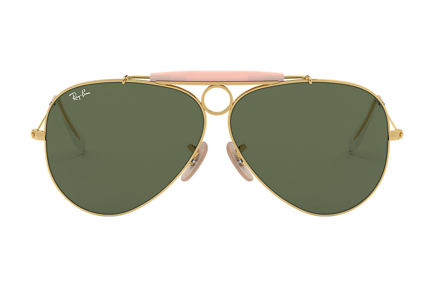 Ray-Ban SHOOTER Gold with Green Classic G-15 lens