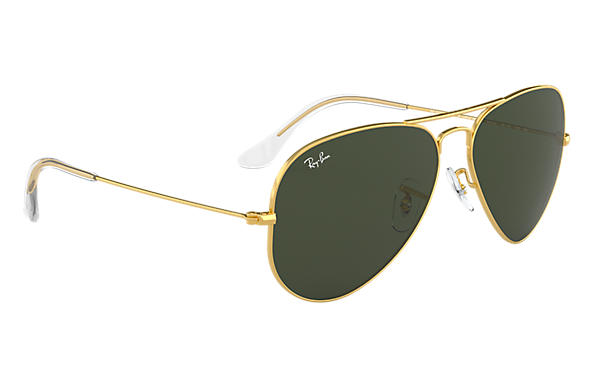 Ray-Ban Aviator Classic RB3025 Gold - Metal - Green Lenses ... 79764992ab
