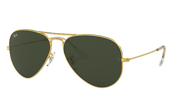 25594574d3482 Ray-Ban Aviator Classic RB3025 Gold - Metal - Green Lenses ...