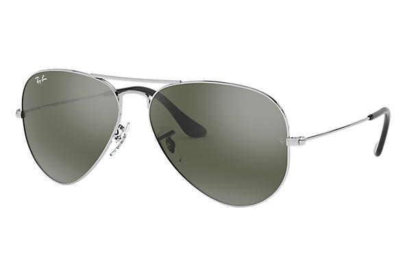 ae68230c82ca1 Ray-Ban Aviator Mirror RB3025 Silver - Metal - Silver Lenses ...