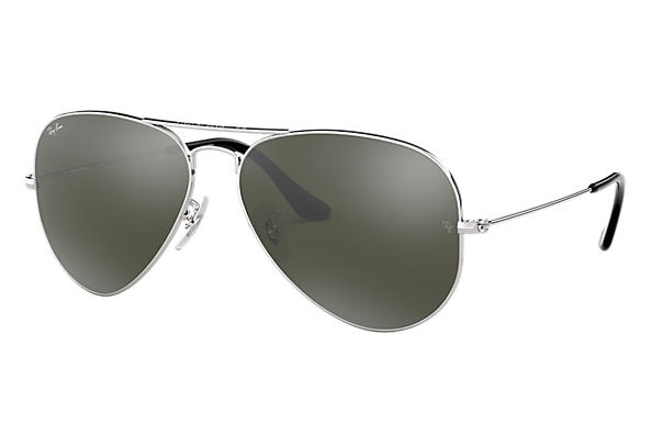 66bc5893fcc8 Ray-Ban Aviator Mirror RB3025 Silver - Metal - Silver Lenses ...