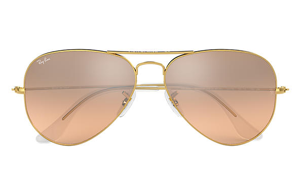 53918ff3e9 Ray-Ban Aviator Gradient RB3025 Gold - Metal - Silver/Pink Lenses ...
