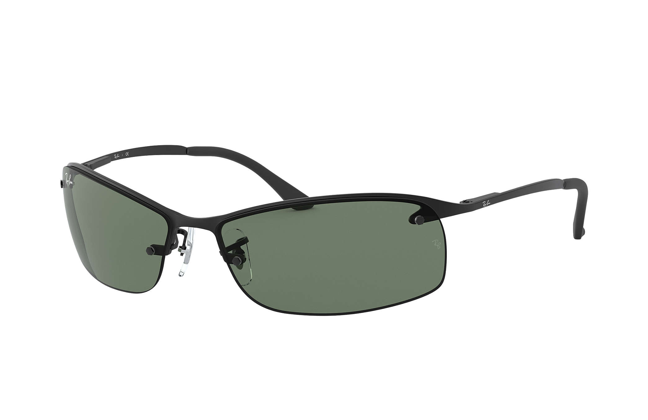 009caffd73e02 Ray-Ban RB3183 Black - Metal - Green Lenses - 0RB3183006 7163   Ray ...