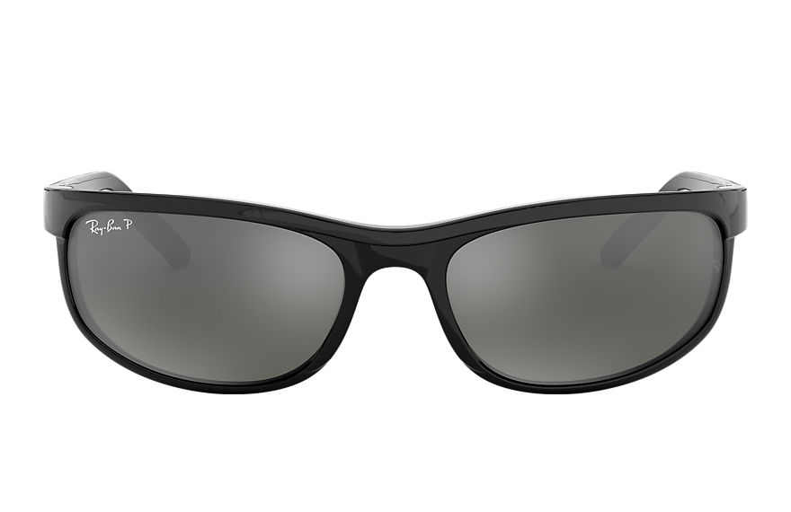 Ray-Ban PREDATOR 2 Black with Grey Mirror lens
