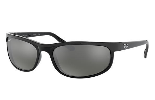 Ray-Ban Sunglasses PREDATOR 2 Black with Grey Mirror lens