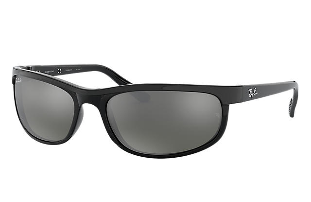 22d07531c2 Ray-Ban PREDATOR 2 RB2027 Black - Nylon - Grey Polarized ...