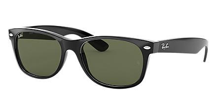 893b893285b5 Ray-Ban New Wayfarer Classic Black with Green Classic G-15 lens. Ray-Ban  sunglasses ...