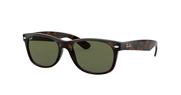 2afaec9cb49 Ray-Ban New Wayfarer Classic RB2132 Tortoise - Nylon - Green Lenses -  0RB213290252
