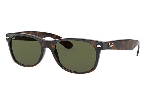 0011461c771 Ray-Ban New Wayfarer Classic RB2132 Black - Nylon - Green Lenses -  0RB213290152