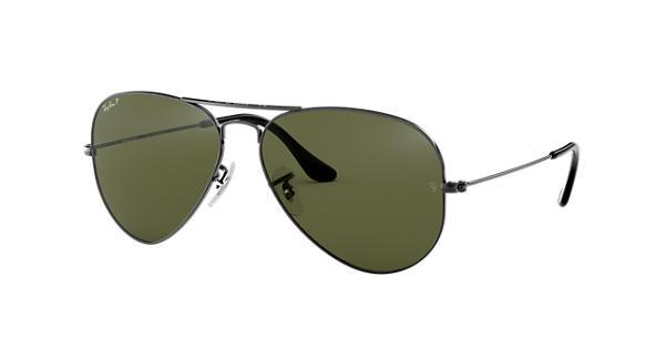 0bb75561fb Ray-Ban Aviator Classic RB3025 Gunmetal - Metal - Green Polarized Lenses -  0RB3025004 5858