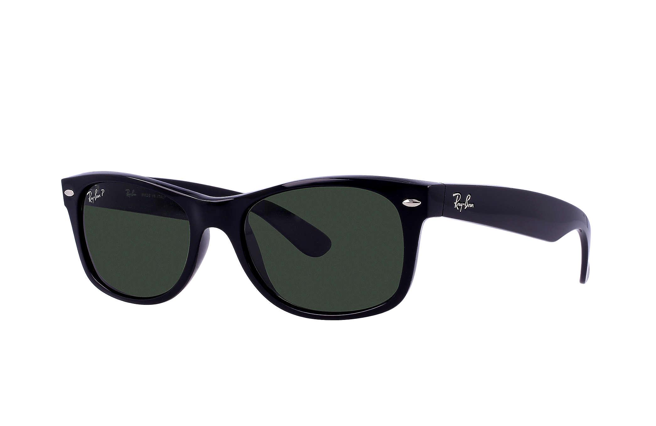 123a8efbd3 Ray-Ban New Wayfarer Classic RB2132 Black - Nylon - Green Polarized ...