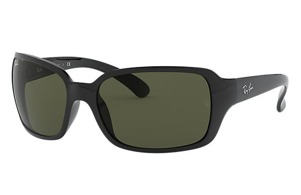 Ray-Ban RB4068 Black with Green Classic G-15 lens