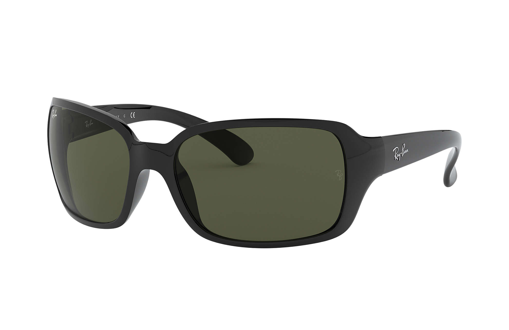 3db0be67b7f Ray-Ban RB4068 Black - Nylon - Green Lenses - 0RB406860160