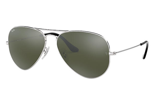 53c1f02b83 Ray-Ban Aviator Mirror RB3025 Silver - Metal - Silver Lenses ...