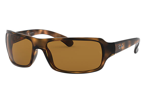 9526d2b1ba Ray-Ban RB4075 Tortoise - Nylon - Brown Polarized Lenses ...