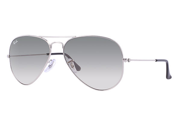 06bf56d4252 Ray-Ban Aviator Gradient RB3025 Silver - Metal - Light Grey Lenses ...