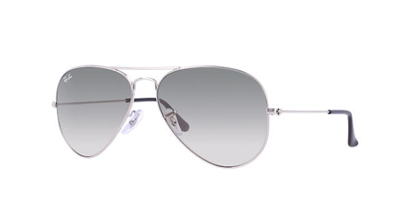 20921158883 Ray-Ban Aviator Gradient RB3025 Silver - Metal - Light Grey Lenses -  0RB3025003 3258
