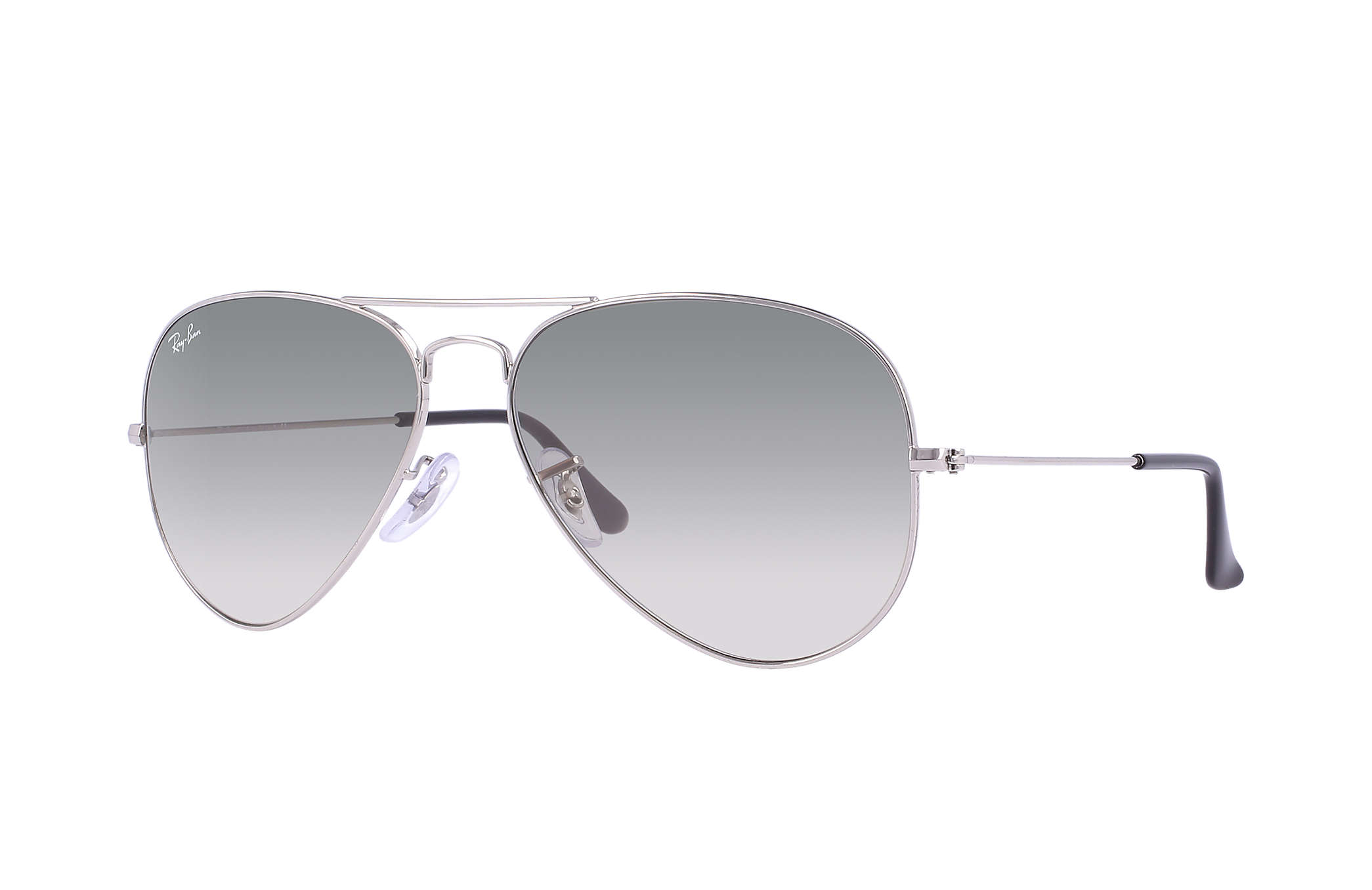 3f384bfb1b Ray-Ban Aviator Gradient RB3025 Silver - Metal - Light Grey Lenses ...