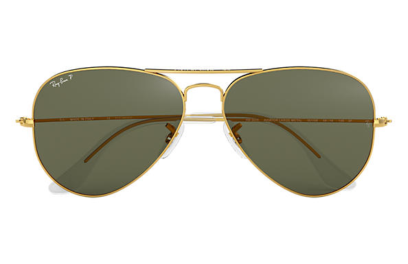 1131335d31 Ray-Ban Aviator Classic RB3025 Gold - Metal - Green Polarized Lenses ...