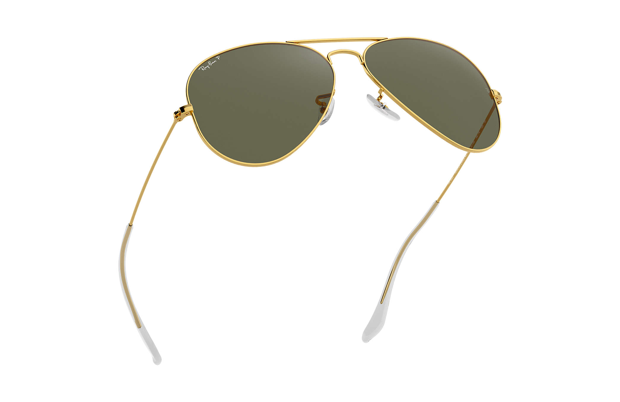 6cd37e6b15a8 Ray-Ban Aviator Classic RB3025 Gold - Metal - Green Polarized Lenses ...