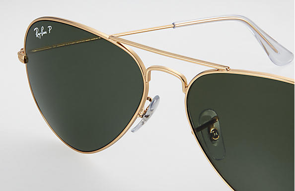 5095b6fa79387 Ray-Ban Aviator Classic RB3025 Gold - Metal - Green Polarized Lenses ...